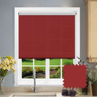 Dark Red Roller Blind - Astral Ruby